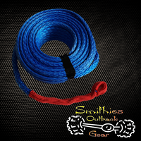 UHMWPE 9000KG 40m x 10mm Blue Synthetic Winch Rope