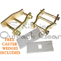EXTENDED ANTI-INVERSION SHACKLES SUIT HILUX SOLID AXLE