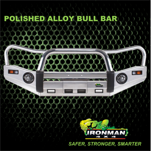 POLISHED ALLOY BULLBAR SUITS TOYOTA HILUX REVO 2015+