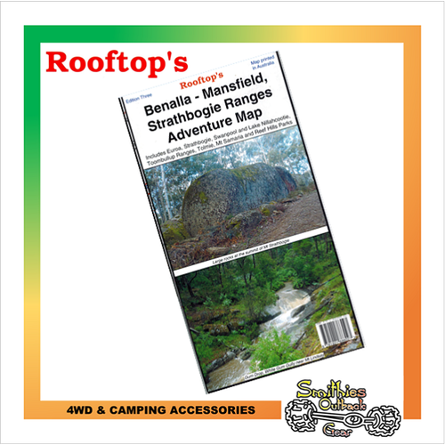 Benalla - Mansfield -Strathbogie Ranges Adventure Map - (Rooftop's)