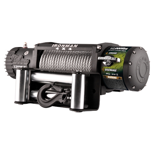 Monster Winch 12000lb - 12V (Steel Cable)
